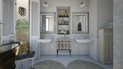 Classy Cozy  - Rustic - Bathroom  - by SimonRoshana