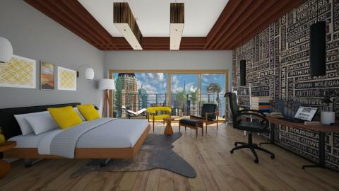 modern bedroom - Modern - Bedroom - by sarasepideh
