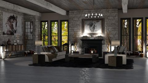 MODERN RUSTIC - Rustic - Living room  - by RS Designs