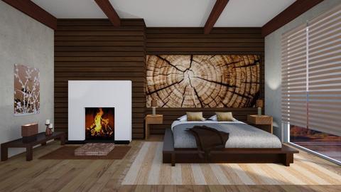 Wooden  Bedroom - Rustic - Bedroom  - by Snowbell