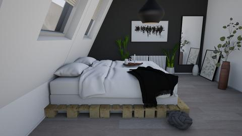 black_white_wood - Bedroom  - by Puppies44