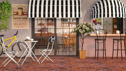 Coffee Shop - Eclectic - by Sally Simpson