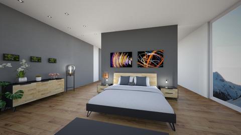 black_bed - Modern - Bedroom  - by GoldenGlow