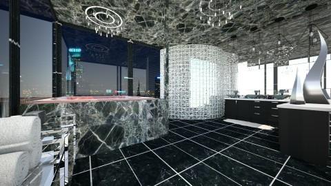 Marbled Bath - Modern - Bathroom  - by hollyhough549