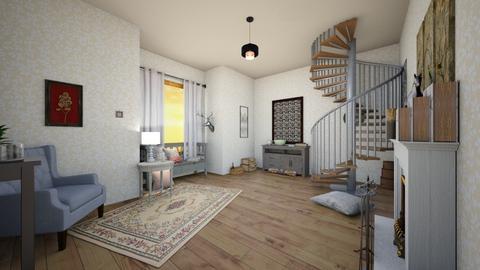 Flat - Living room  - by KitchenCat