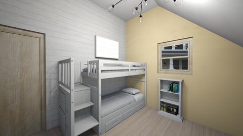 Attic Bedroom - Rustic - Bedroom  - by CoolCatEm