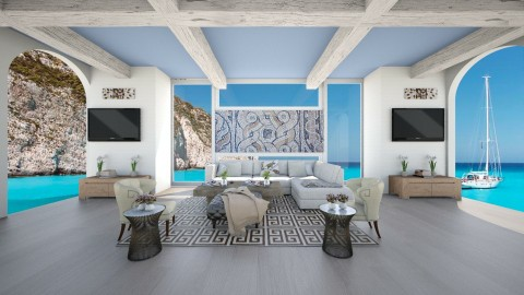 Greek Living Room - Modern - Living room  - by bgref