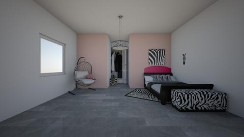 Zebra Bedroom - Glamour - Bedroom  - by Arianna1000