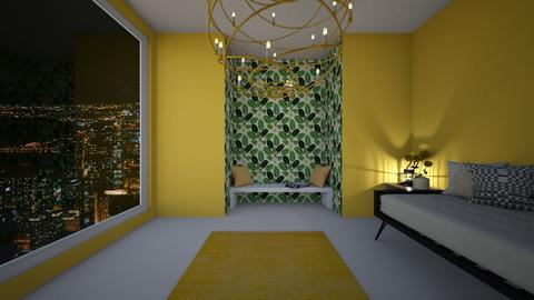 yellow and black - Modern - Living room  - by ceendy