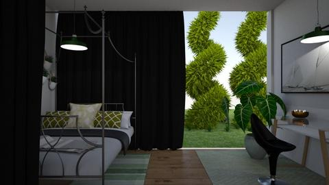 Green and Black Bedroom - Bedroom  - by Merdog