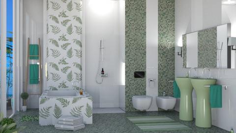 tropical bathroom - Bathroom  - by nat mi
