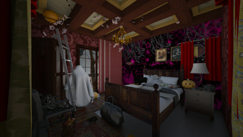 Halloween time - Bedroom - by Sejal Jain