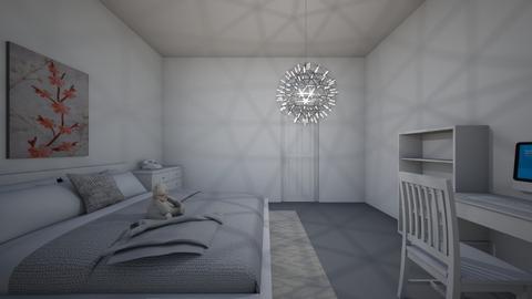 White aesthetic room_ - Bedroom - by Honey_Bee