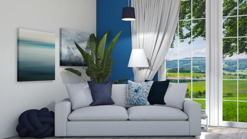 blue and white - Living room  - by GermanFriday