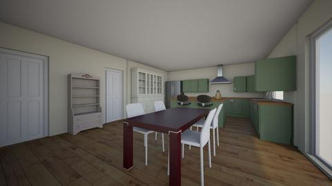 Kitchen_IntoGarageRemoveW - Kitchen  - by adamshindler