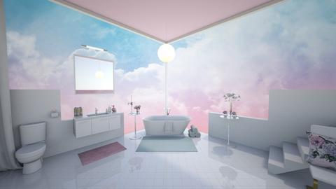 Pink Sky Room - Minimal - Bathroom  - by Sophia Cooper