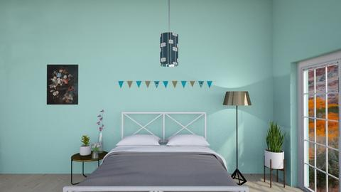 turquoise party room  - Vintage - Bedroom - by aschaper