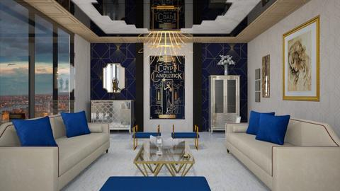 Art Deco - Living room  - by yonvie