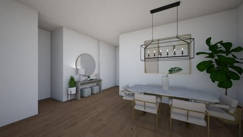Dining Entryway FINAL  - Modern - Dining room  - by laurymonk