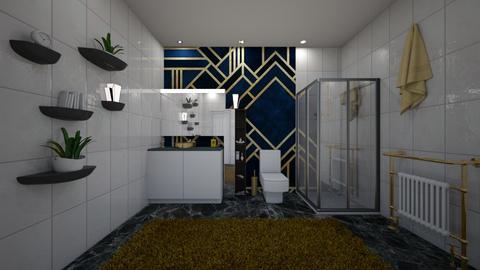 art deco bathroom - Bathroom  - by bluedolphin12