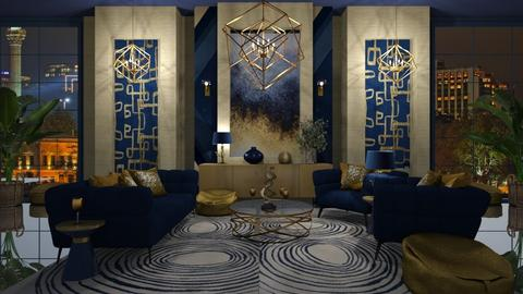 NAVY AND GOLD - Eclectic - by RS Designs