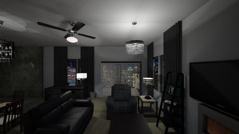 Small Penthouse Night - Living room  - by mspence03