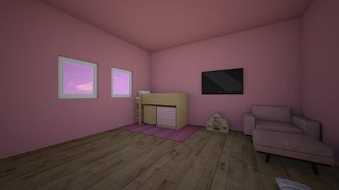 pink kids room - Kids room  - by XenaChico