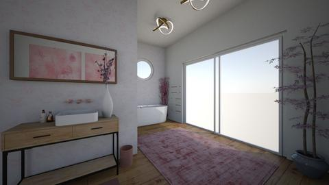 Cherry Blossom Bathroom - Bathroom  - by Lexidesign