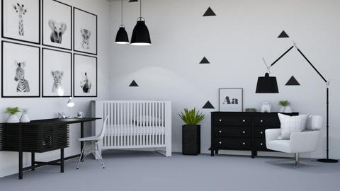Black and White Baby room - Modern - Kids room  - by Ari_adnos