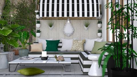M_ Urban patio - Garden  - by milyca8