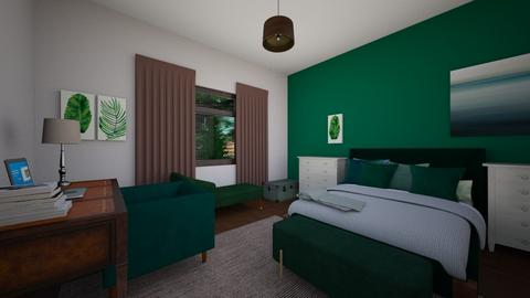 Green Natural Update - Eclectic - Bedroom  - by MiDesign