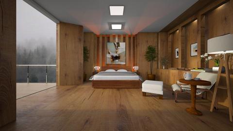 wood bedroom - Bedroom  - by diegobbf