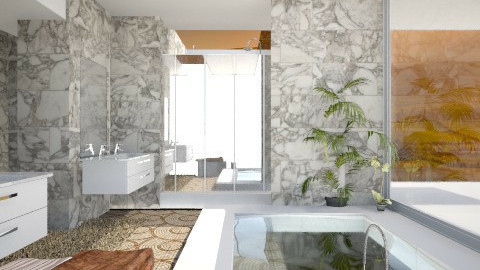 Beige bath - Modern - Bathroom  - by AnnaMull