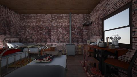 Tenement  - Vintage - Bedroom  - by PeculiarLeah