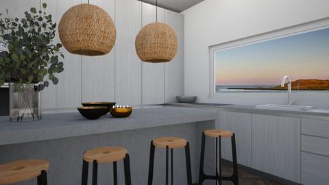 Grey kitchen - Modern - Kitchen  - by aestheticXdesigns