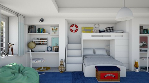 cool shared room - Kids room  - by mayssa ltf