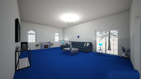 Blue and white design - Living room  - by ArEyAnAiSrUnNiN