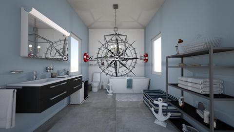 Nautical Bathroom - Modern - Bathroom - by cbruno23