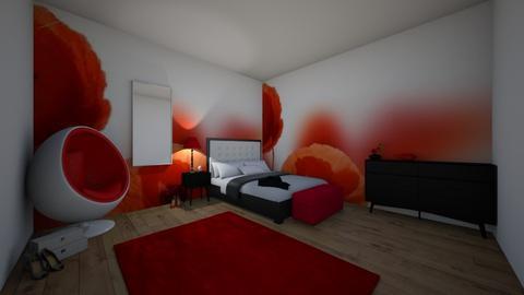 poppy modern bedroom - Modern - Bedroom  - by AJLoveDesigns