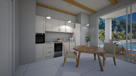 beachside hotel  - Modern - Kitchen  - by NEVERQUITDESIGNIT