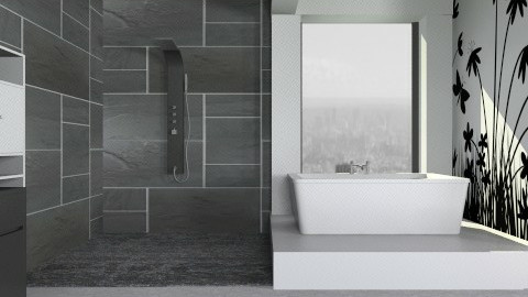 Black & White - Modern - Bathroom  - by deleted_1513655778_Valencey14