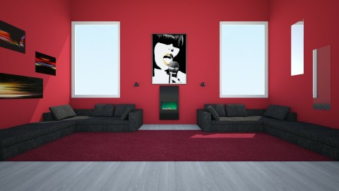 Red 1 - Living room - by Adri_Svek