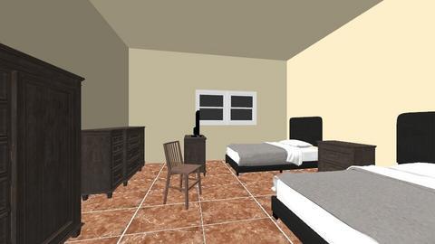 habitacion 2 - Retro - Bedroom - by esmenette145