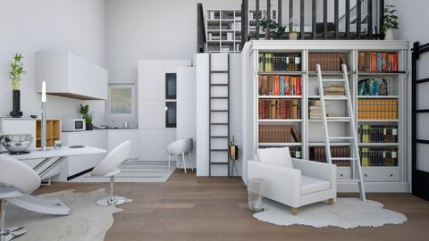 Modern White Apartment - Modern - Living room  - by Isaacarchitect