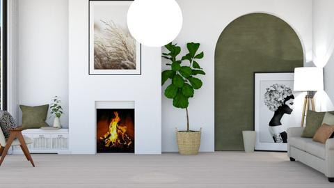 Washed stone - Living room  - by Thepanneledroom