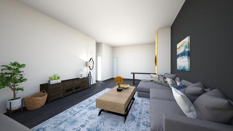 livingroom greysectional0 - Living room  - by lilsrox05