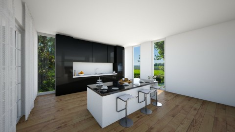 keuken hoek 1 - Kitchen  - by smuldersfleur
