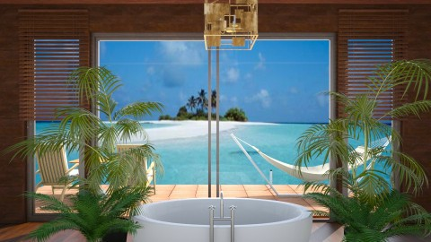 Bathing in Paradise - Classic - Bathroom  - by Muoz Rebeca