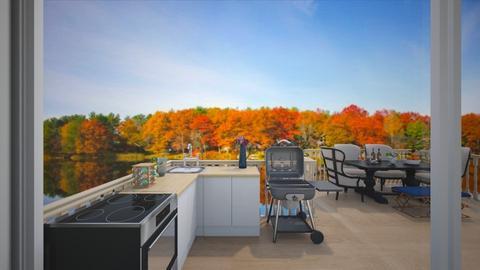 Outdoor dining 4 kitchen - Modern - by ArtLiveRepeat