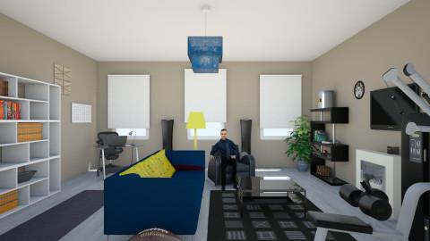 Bachelor Pad - Living room  - by Evihun